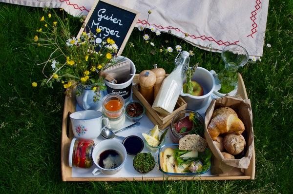 Frühstück im Weingarten